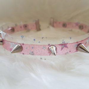 Transparent Pink Choker 01 Velveteena Leigh