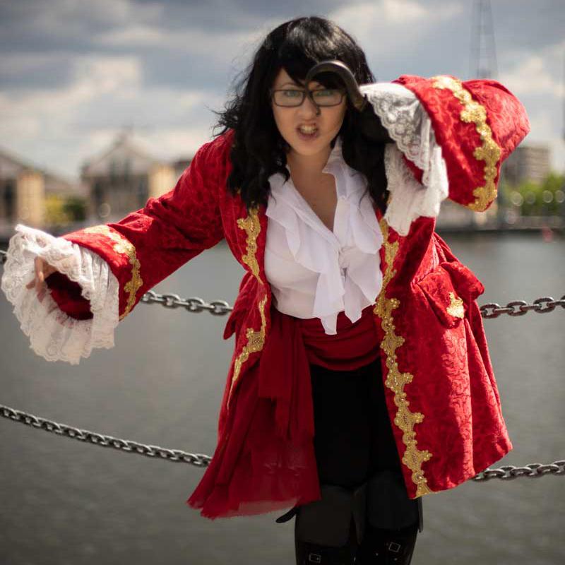Captain Hook Costume Cosplay Velveteena Leigh