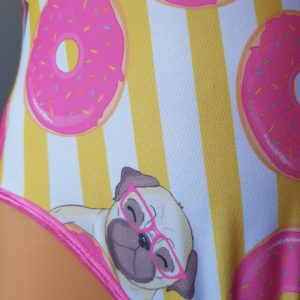 Pugs and Doughnuts by Velveteena LeighBodysuit 02